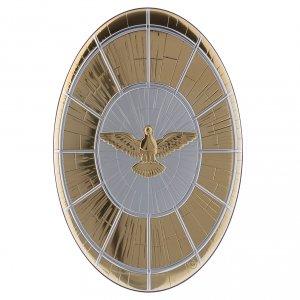 Quadro Colomba oro in bilaminato con retro  legno 33X22 cm s1