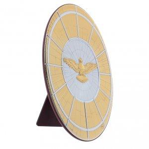 Quadro Colomba oro in bilaminato con retro  legno 33X22 cm s2