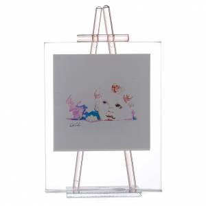 Bomboniere e ricordini: Quadro da appoggio in vetro Custodiscimi 11x14 cm Rosa