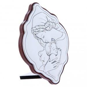 Quadro in bilaminato con retro in legno pregiato Maria 10X7 cm s2