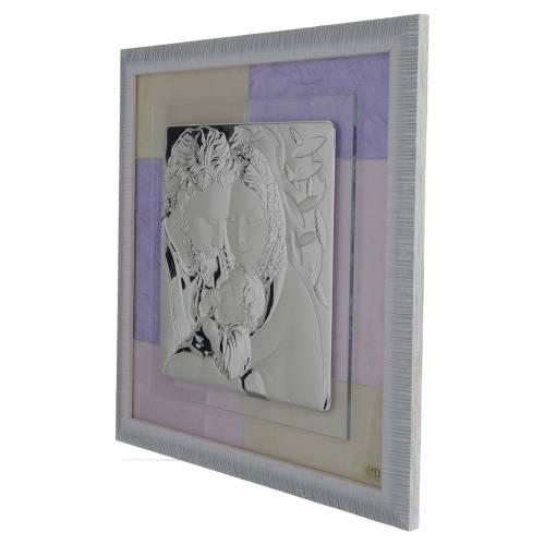 Quadro S. Famiglia rosa - lilla 33x34 cm s2