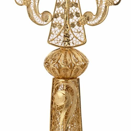 Relicario dorado de plata 800 filigrana 23cm s3