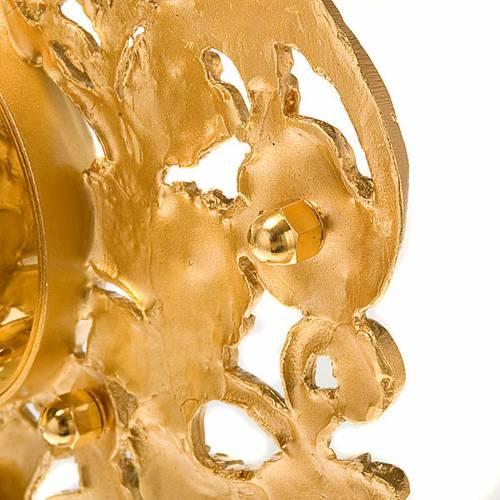 Relicario plateado/dorado con piedras s3