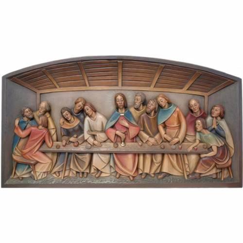 Relief Cène bois coloré Valgardena s1