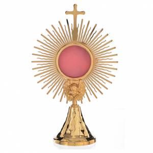 Reliquary, Sun model in golden brass H21cm s1