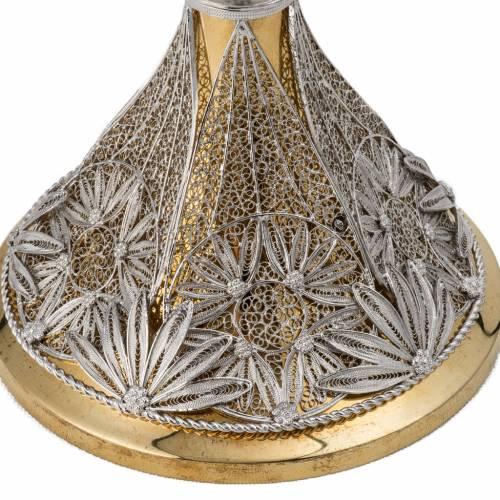Reliquiario con croce filigrana argento 800 s2