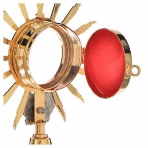Reliquiario in ottone dorato con putto h 21 cm s3