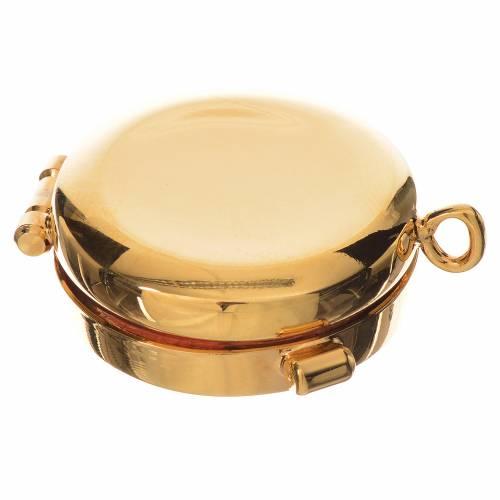 Reliquiario ottone dorato diam. 3,5 cm s3