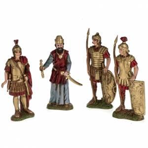 Rey Herodes con 3 soldados romanos 10 cm Moranduzzo s1