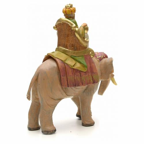 Rey mago mulato sobre elefante 12cm Fontanini s3