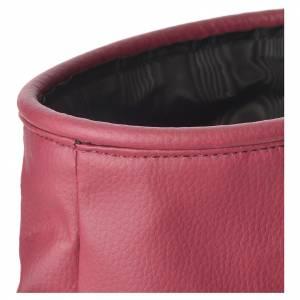 Various Products: Rigid alms bag, burgundy