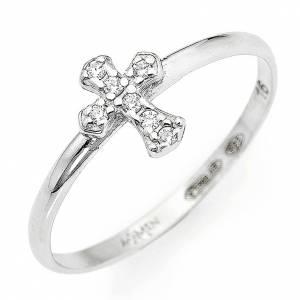 Gebetsringe: Ring AMEN Kreuz rodinierten Silber