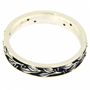 Gebetsringe: Ring AMEN Silber 925 schwarzen Zirkonen
