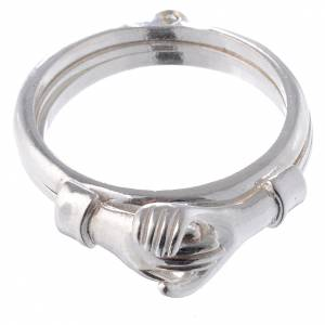 Prayer rings: Ring in 800 silver with 2 hands which can be opened