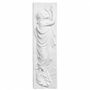 Funeral products: Risen Christ, 55x16 cm reconstituted marble bas-relief