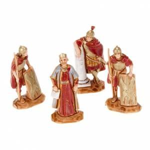 Crèche Moranduzzo: Roi Hérode et soldats romains 4pc crèche Moranduzzo 3.5cm