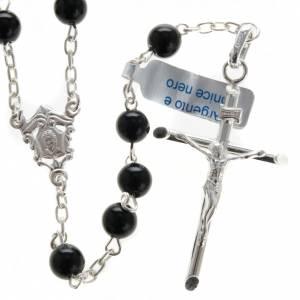 Rosari argento: Rosario Arg 800 e onice 6 mm