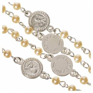 Rosario argento 800 perle angelo custode s4