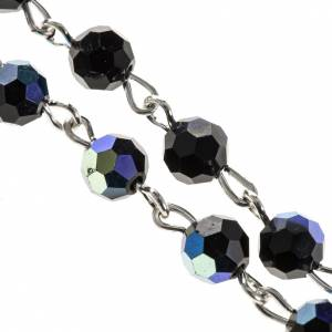 Rosarios de cristal: Rosario cristal negro 6mm