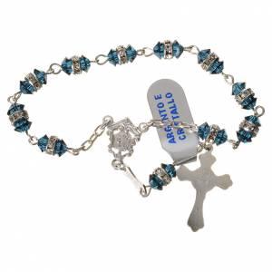 Rosari decina: Rosario decina argento 800 cristallo blu