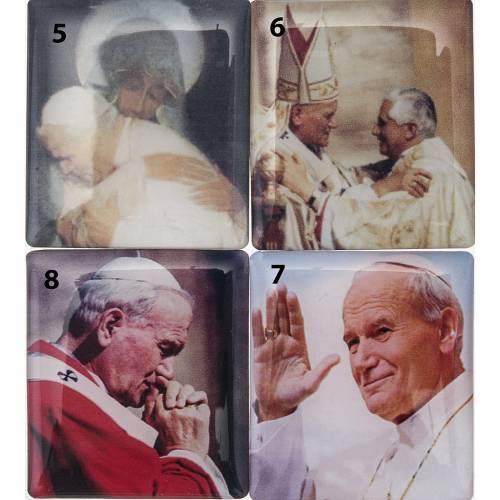 Rosario Elettronico rosso marmorizzato G.Paolo II Coroncina s3