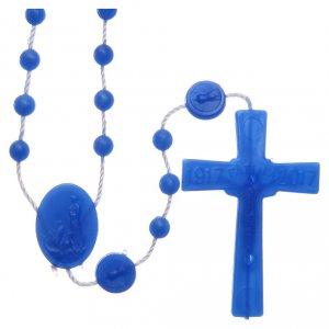 Rosario Fatima nylon blu 6 mm s2