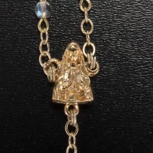 Rosario Ghirelli dorado transparente Lourdes gruta 4 mm s3