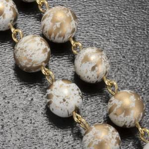 Rosario Ghirelli grotta di Lourdes bianco oro 8 mm s5