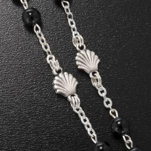 Rosarios Colección Ghirelli: Rosario Ghirelli vidrio de bohemia Bautismo 6 mm