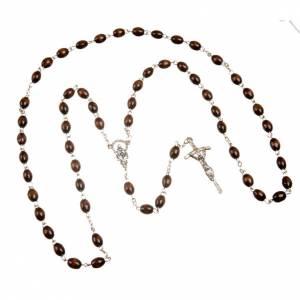 Rosari legno: Rosario ovale legno pastorale 7 mm