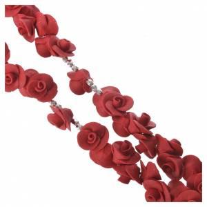 Rosario Medjugorje rose rosse croce vetro Murano s3