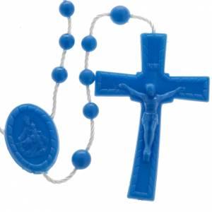 Rosarios económicos: Rosario nylon azul