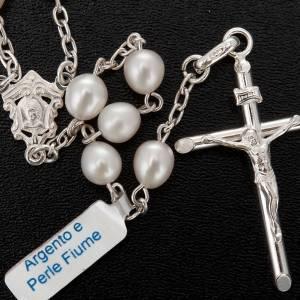 Rosarios de Plata: Rosario plata 800 perlas de río