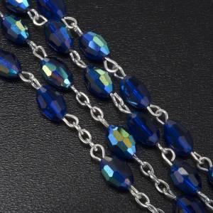 Rosario vero cristallo blu 9x6 mm s5