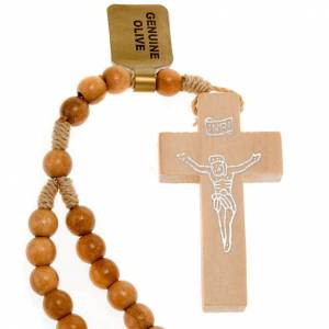 Rosary 20 decades in Olive wood 5 mm s1