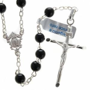 Rosary, 800 silver and onyx, 6mm s1