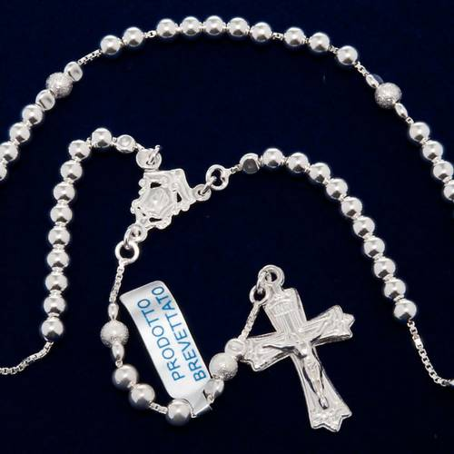Rosary, 800 silver, sliding beads s5