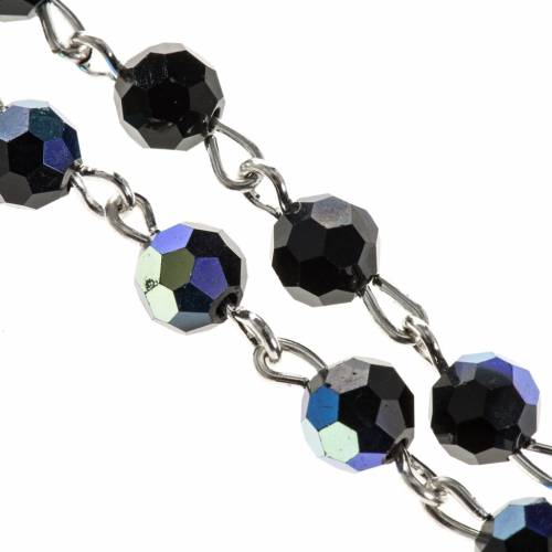 Rosary beads in crystal, 6mm, black s2