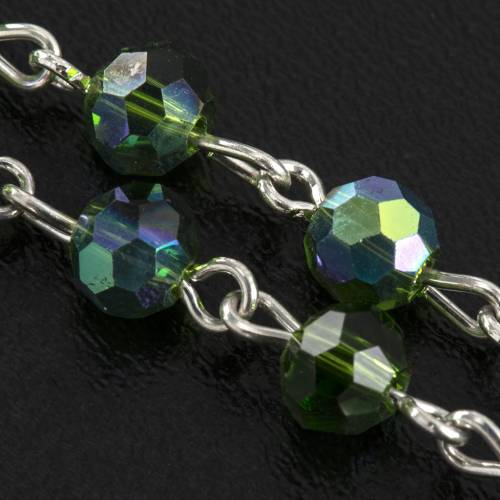 Rosary beads in crystal, 6mm, green s4