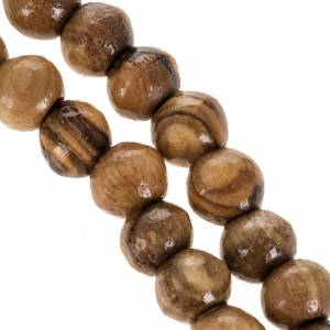 Rosary beads in olive wood from Holy Land and rope 8 mm s3