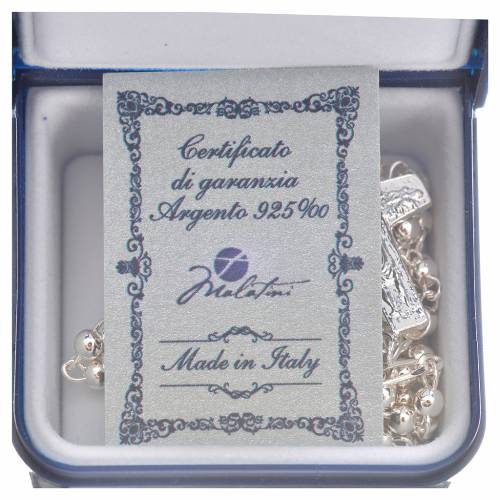 Rosary beads in silver, Pope Francis 0,12in s5
