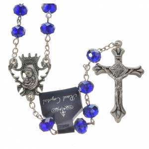 Rosary beads with crystal and porcelain 8x6mm blue s1
