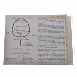 Rosary leaflet in EN or FR with rosary s2