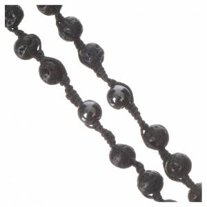 Rosary necklace in igneous stone and hematite 6mm s4