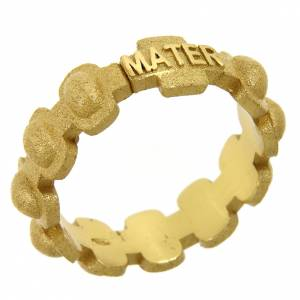 Prayer rings: Rosary ring in gold plated silver 925 glazed finishing, MATER