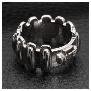 Prayer rings: Rosary ring in silver 925, MATER