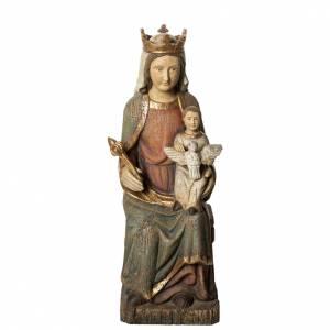 Rosay Virgin statue, 60 cm in painted wood, Bethléem s1
