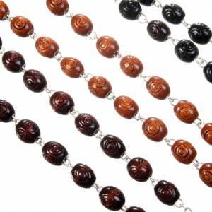 Holz Rosenkränze: Rosenkranz eingelegte ovalen Perlen