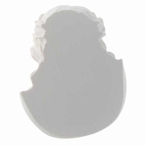 Rostro de Cristo de 10 cm en polvo de mármol de Carrara s4