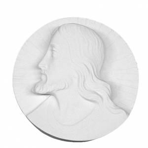 Rostro de Cristo redondo mármol sintético s1